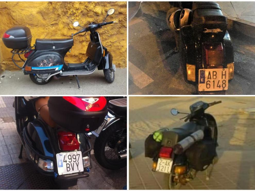 Estas cuatro motos han sido robadas en los últimos días en Zaragoza.