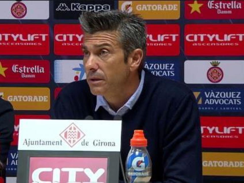 José Luis Soler, entrenador del Girona desde hace 4 jornadas (llegó en relevo del despedido Juan Carlos Unzué), en rueda de prensa.