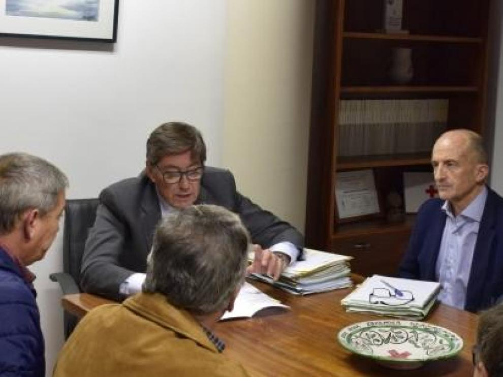 Arturo Aliaga, consejero de Industria, en su reunión de este sábado en Andorra.