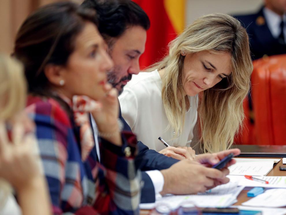 Cayetana Álvarez de Toledo durante una reunión de la Diputación Permanente celebrada esta semana en el Congreso.