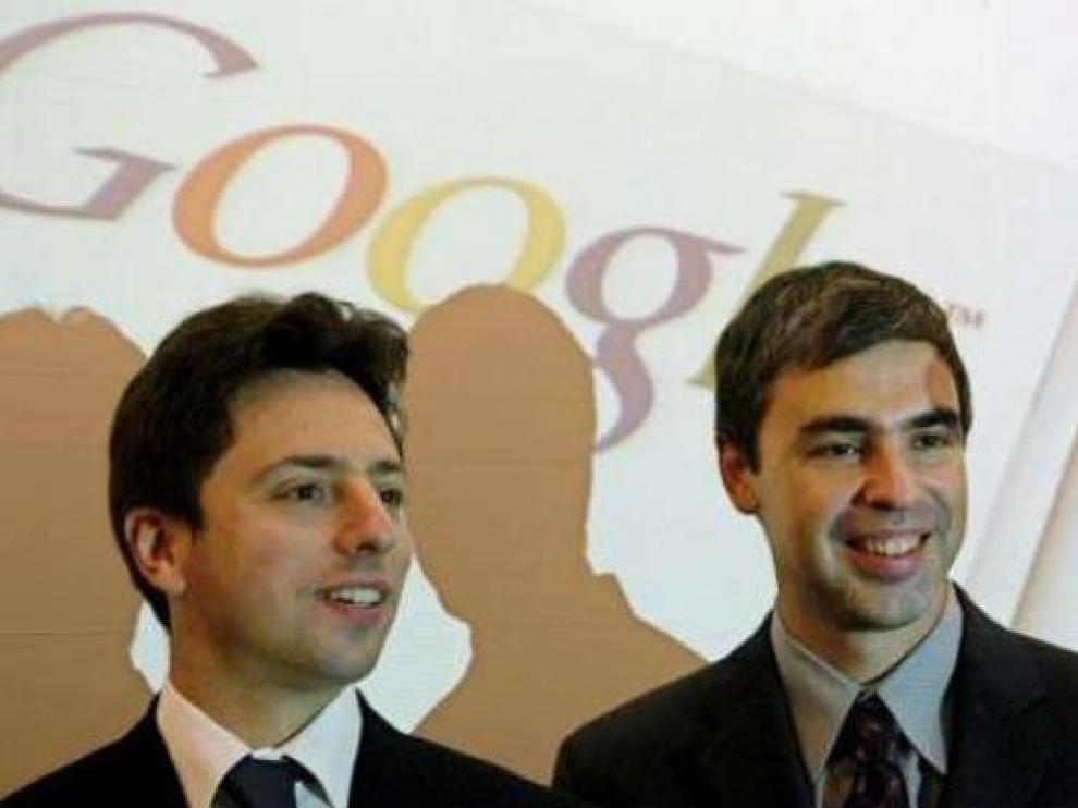 Larry Page y Sergey Brin, cofundadores de Google y respectivamente consejero delegado y presidente de Alphabet