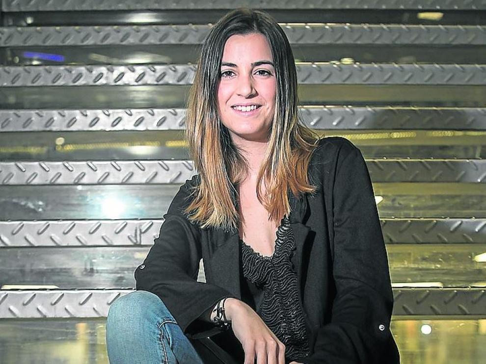 Laura Cebrián fotografiada hace pocos días en Zaragoza.