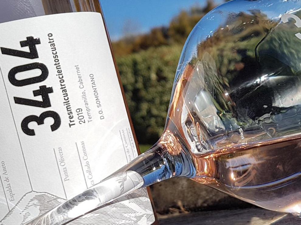 Botella del nuevo Pirineos 3404 rosado.