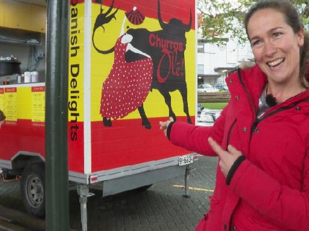 Irene es dueña de una churrería en Nueva Zelanda.