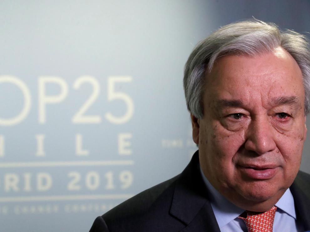 El secretario general de las Naciones Unidas, Antonio Guterres.