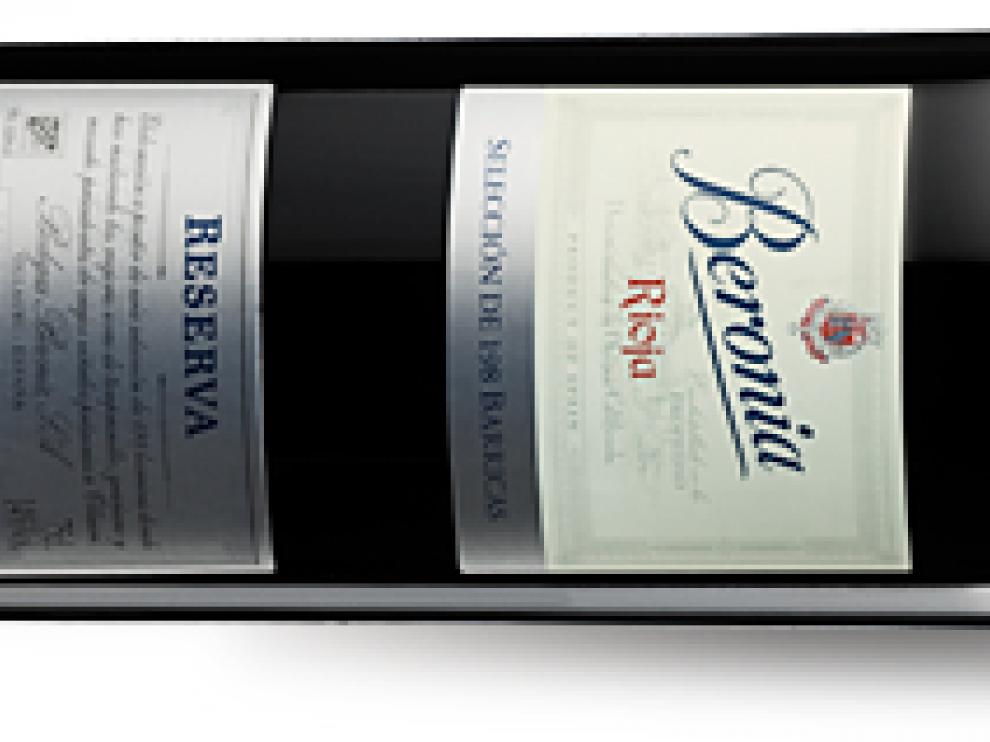 Botella de Beronia 198 barricas.
