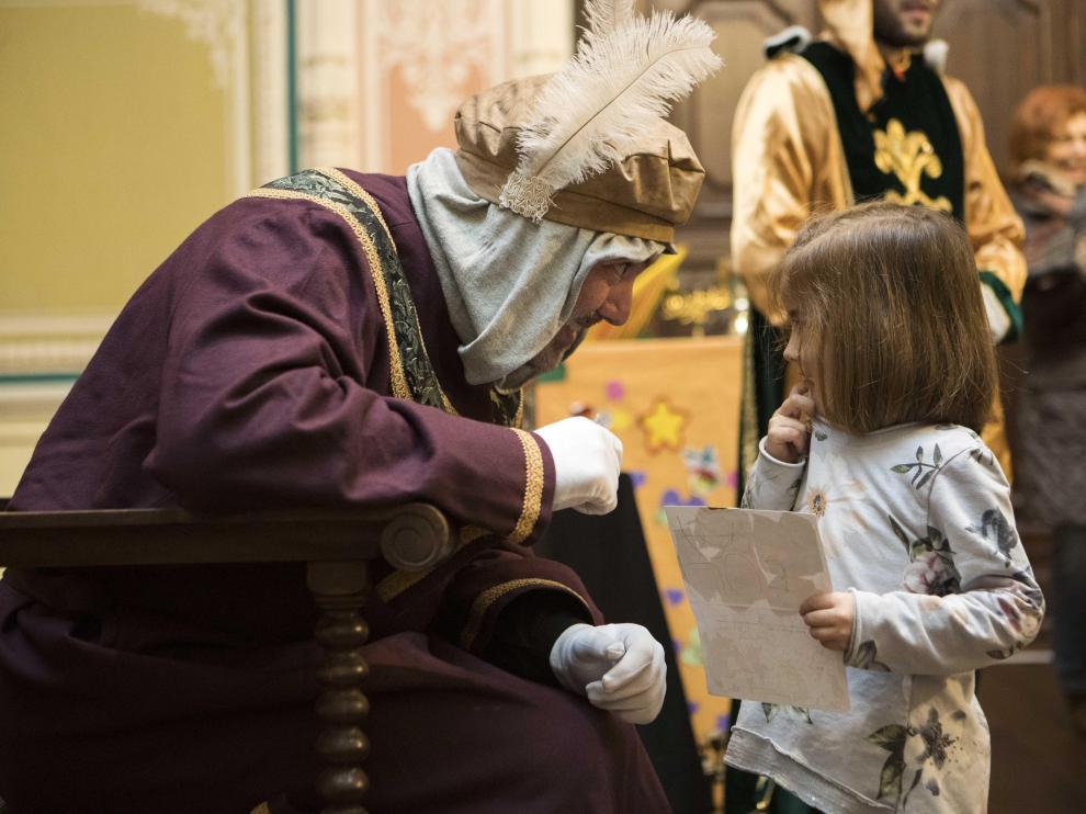 El Cartero Real en el Museo Alma Mater de Zaragoza el año pasado.