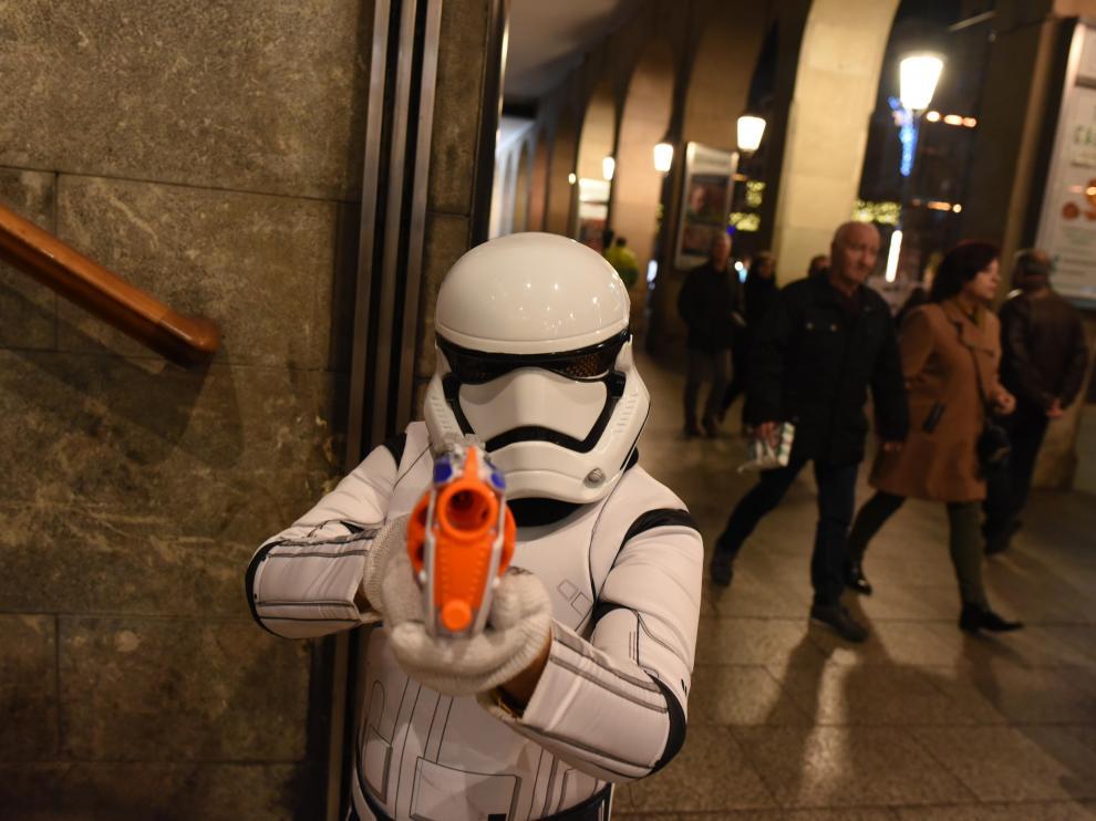 Estreno de la nueva película de Star Wars en Zaragoza.
