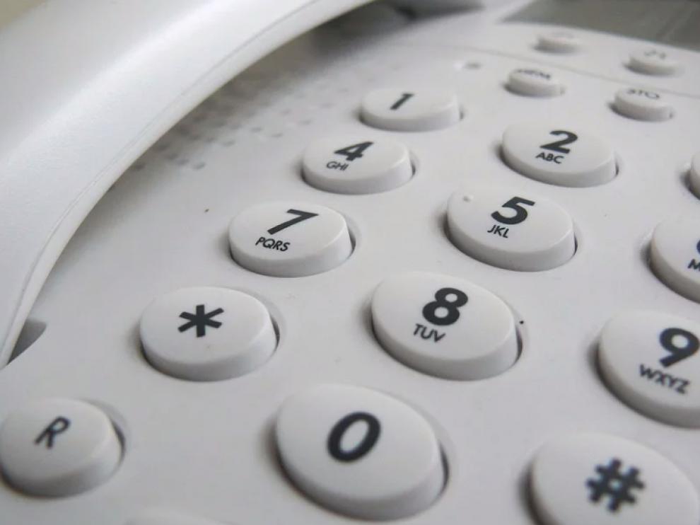 Teléfono fijo, imagen de archivo.