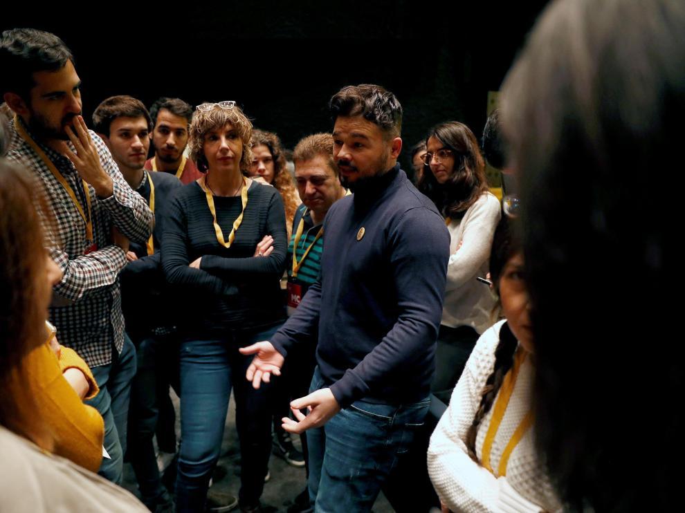 Gabriel Rufián, en el Congreso Nacional de ERC, este sábado.