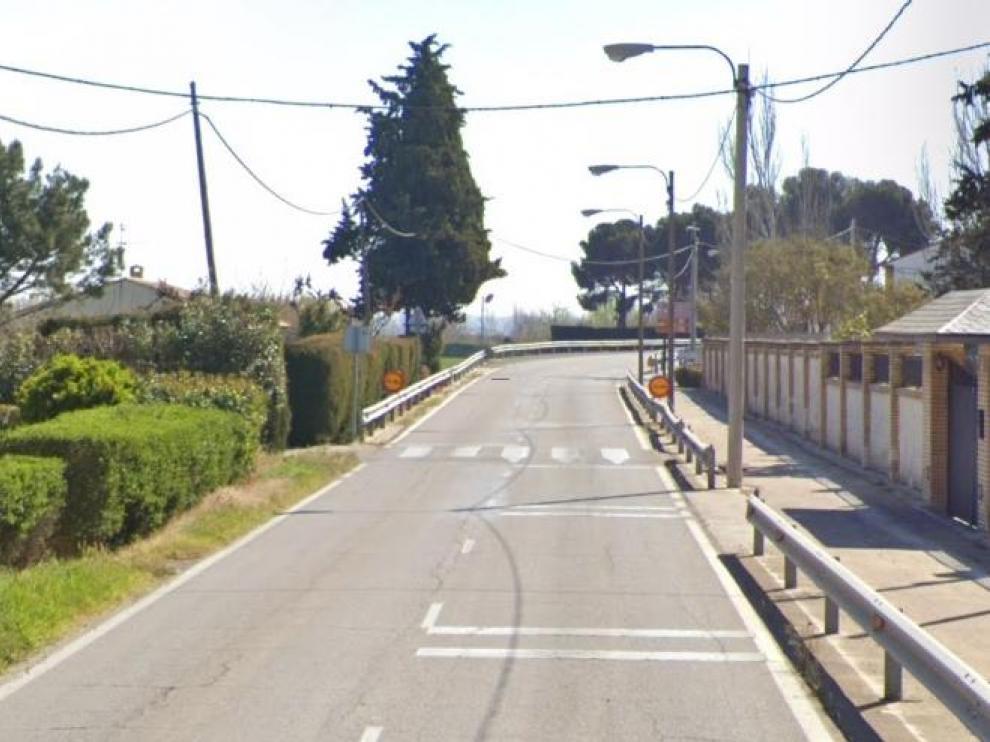 Carretera entre Movera y Pastriz, que ha sido invadida durante unos minutos.