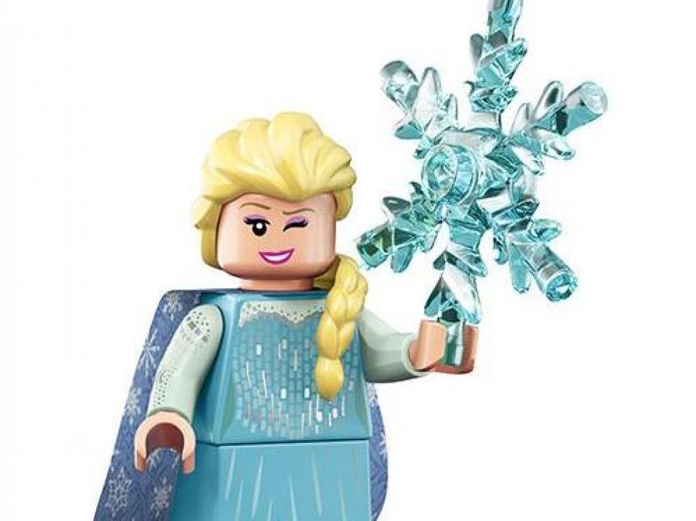 Figura de Lego de Elsa, de 'Frozen'.