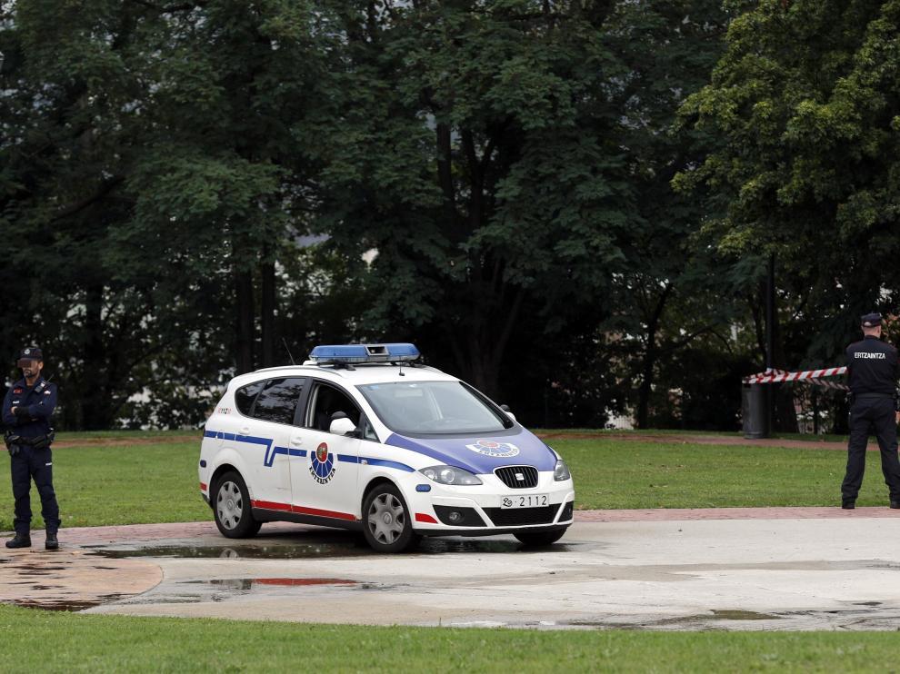 Imagen de archivo de un reciente dispositivo de la policía autonómica vasca.