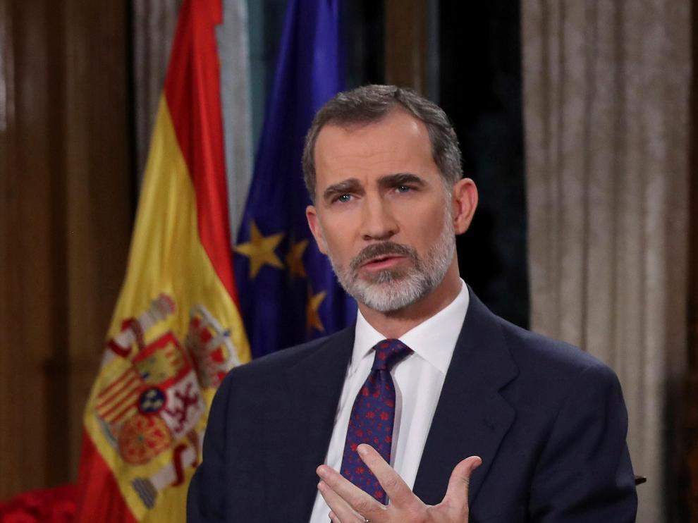 Mensaje de Felipe VI en 2018.