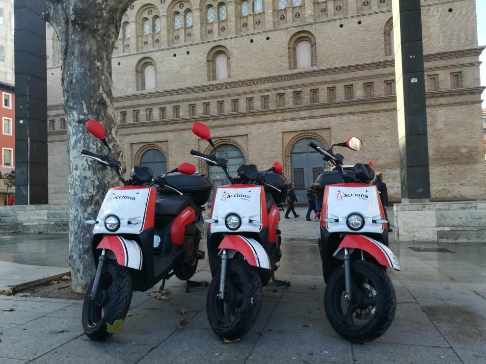 Acciona ha desplegado 400 motos compartidas en Zaragoza