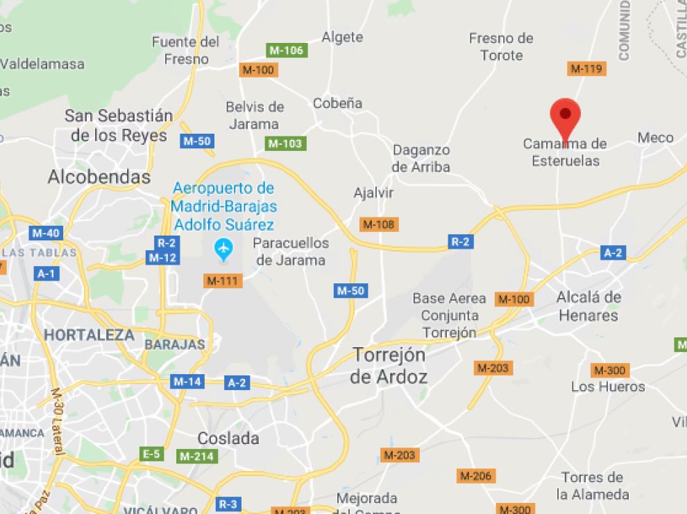 La agresión tuvo lugar en un camino a una depuradora de Camarma de Esteruelas, en Madrid.