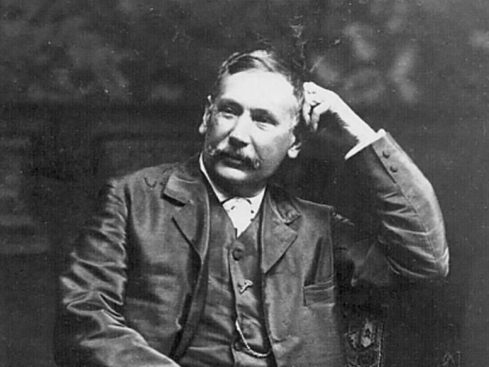 Benito Pérez Galdós envió esta foto a Heraldo en 1904.