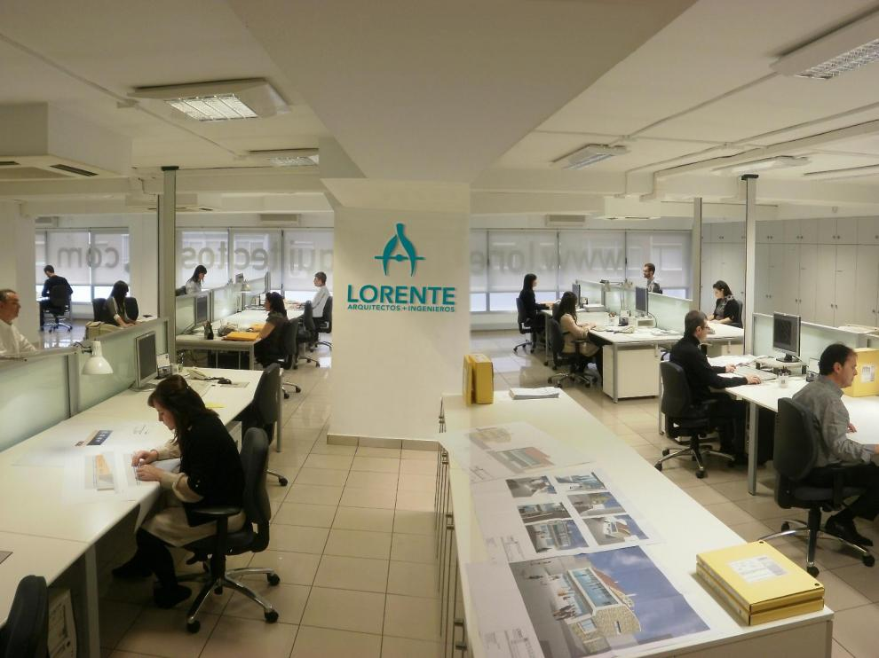 Oficinas centrales de Lorente Arquitectos en Zaragoza.