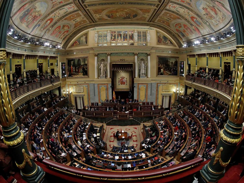 Vista del hemiciclo del Congreso durante el debate de investidura.