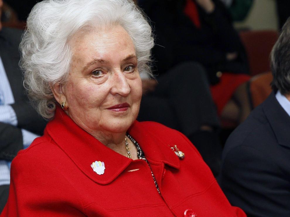 Fotografía de archivo de la infanta Pilar de Borbón con 83 años en 2013