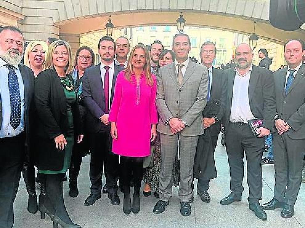 Los diputados socialistas aragoneses, este martes en Madrid