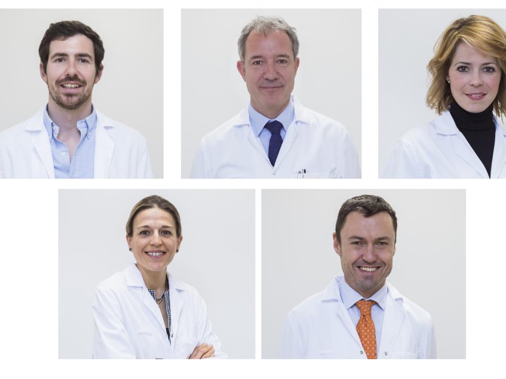 Miembros del equipo de Ginecología y Obstetricia de Quirónsalud Zaragoza.