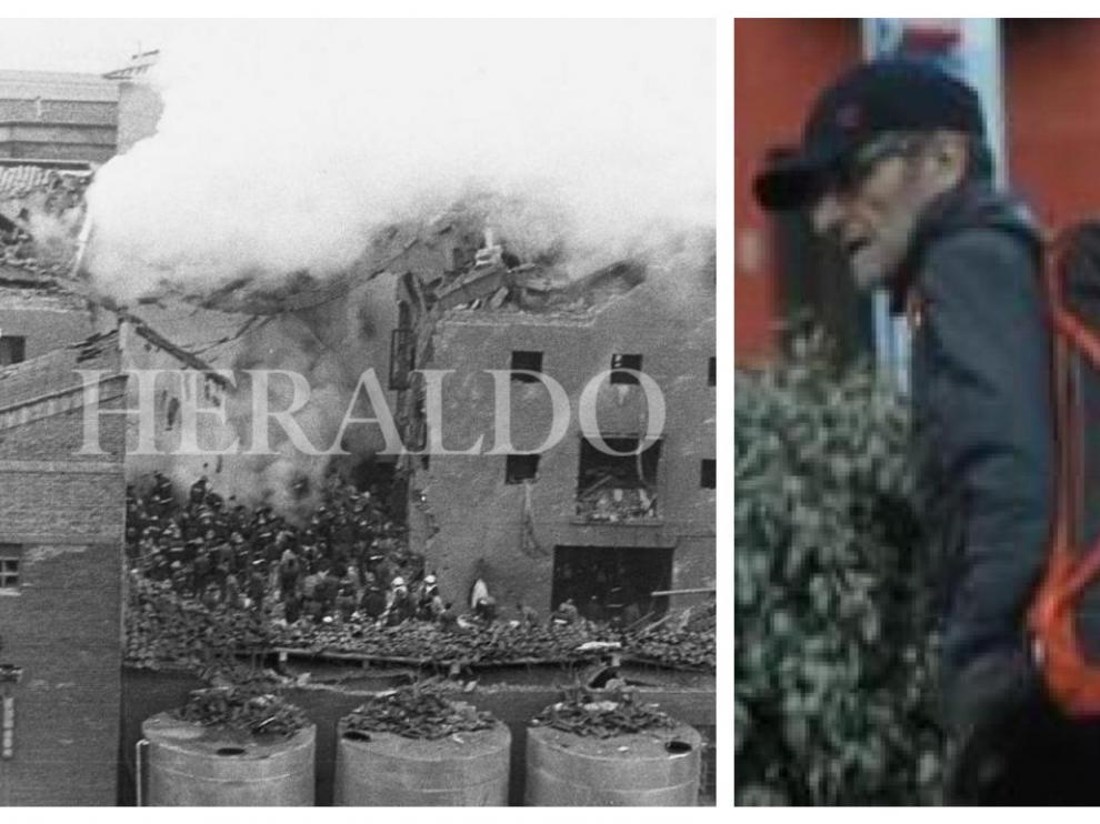 Combo de imágenes del atentado de la casa cuartel y de Josu Ternera