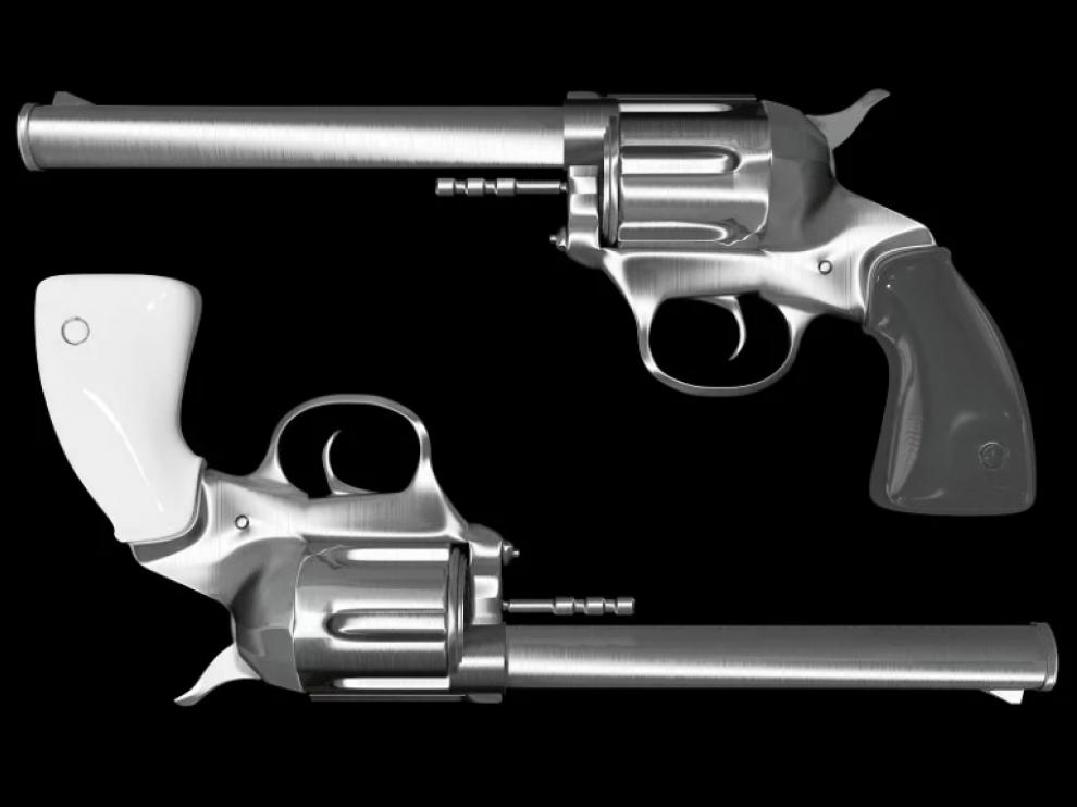 Imagen de archivo de dos pistolas.