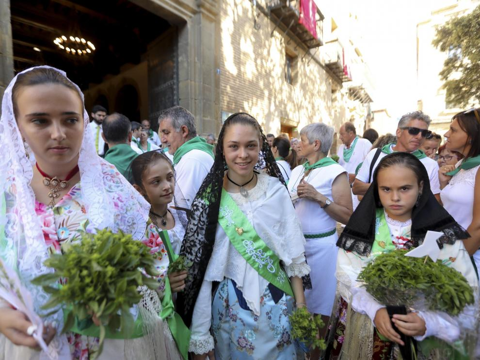 La procesión de San Lorenzo es uno de los muchos actos a los que acuden las mairalesas.