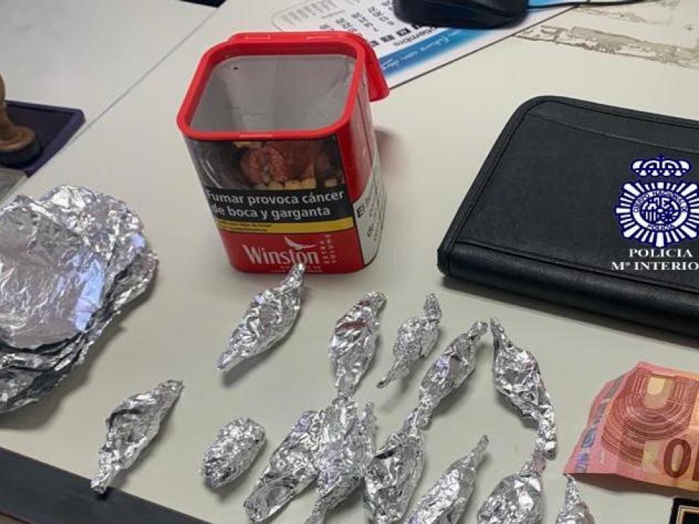Sustancias incautadas por la Policía Nacional.
