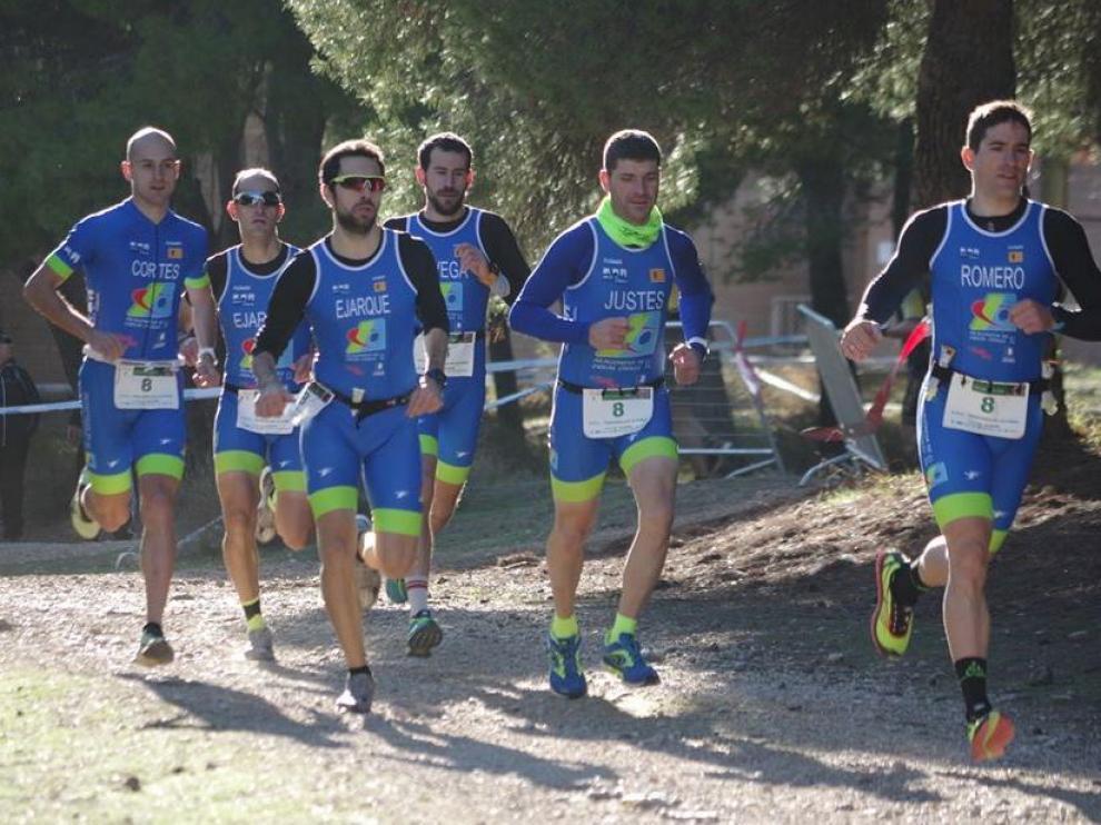 El equipo Tragamillas Alcañiz (Jávega, Cortés, Ejarque, Romero, Justes, Ejarque)