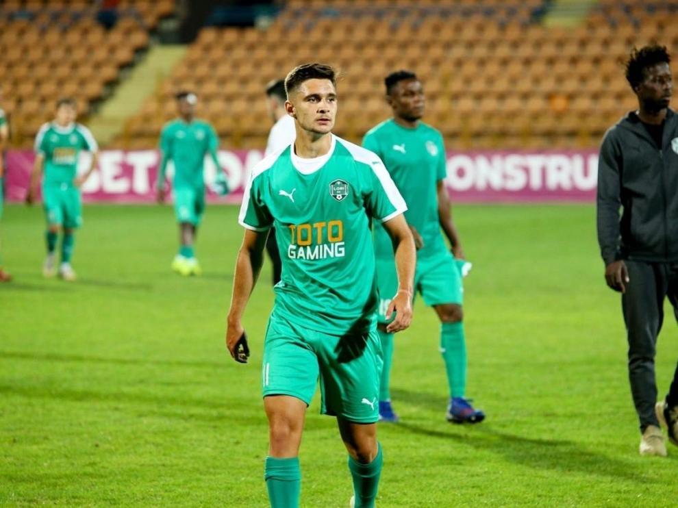 Alejandro Puertas al término de un partido con el Lori FC en la Liga armenia.