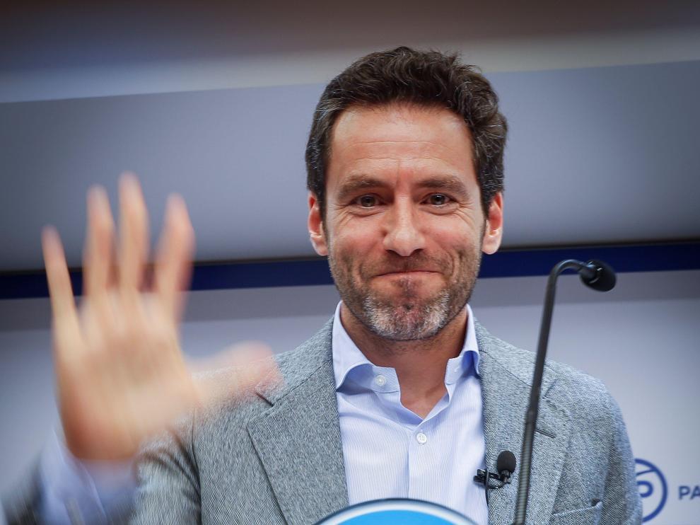 Borja Sémper, en la rueda de prensa en la que ha explicado este martes su decisión de alejarse de la política.