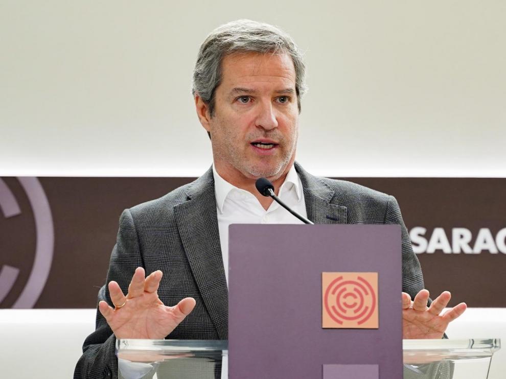 El portavoz de Ciudadanos en las Cortes de Aragón, Daniel Pérez Calvo, y ahora secretario autonómico de Comunicación.