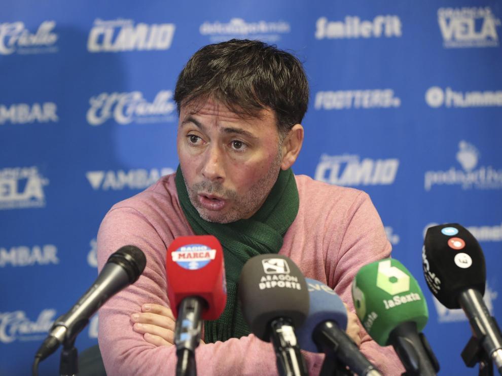 El entrenador del Club Deportivo Ebro, Manolo Sanlúcar.