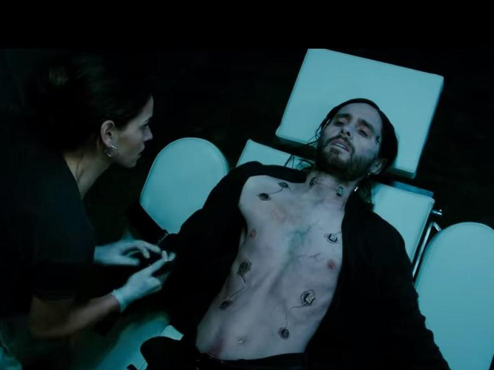 Un fotograma del tráiler de 'Morbius', protagonizada por Jared Leto.