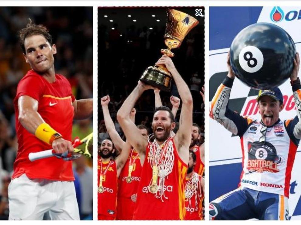 Rafa Nadal y Marc Márquez en la categoría de Mejor Deportista Masculino del Año y la Selección Española Masculina de Baloncesto ha sido elegida para formar parte de la categoría a Mejor Equipo del Año.