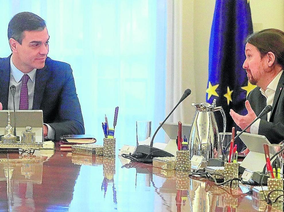 Sánchez preside en la Moncloa el primer Consejo de Ministros de su Gobierno de coalición con Unidas Podemos.