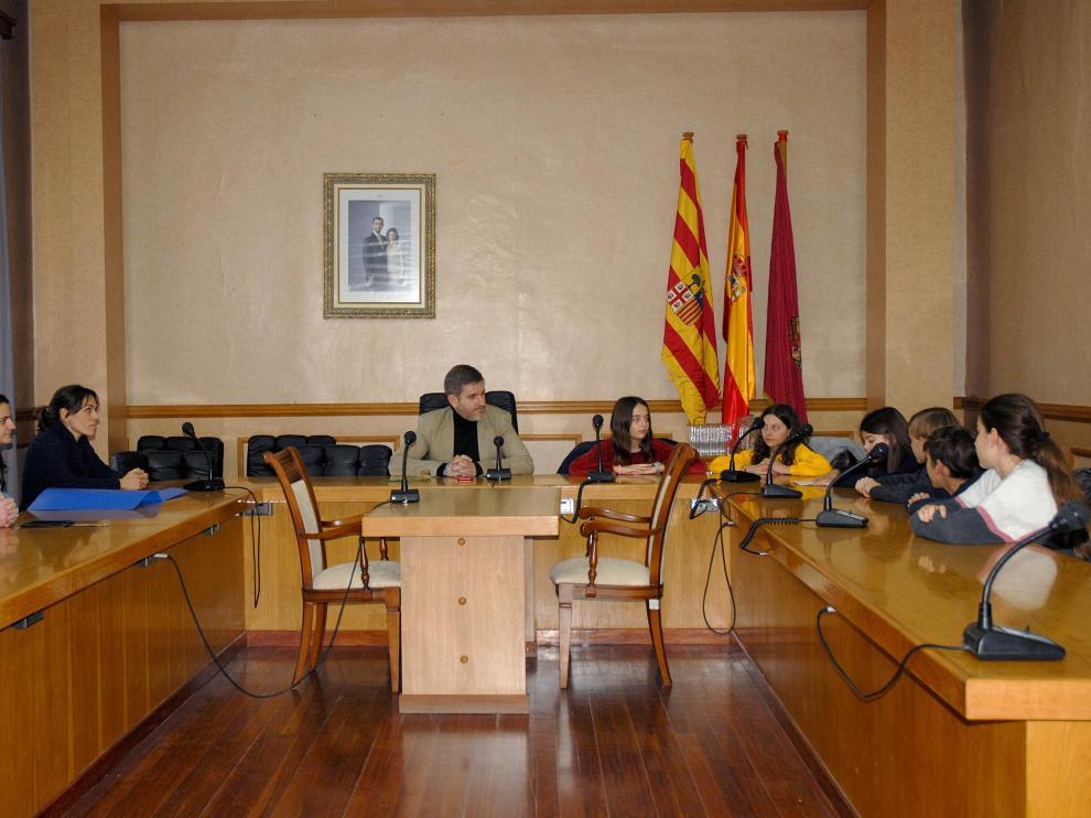 Los alumnos expusieron sus propuestas al alcalde