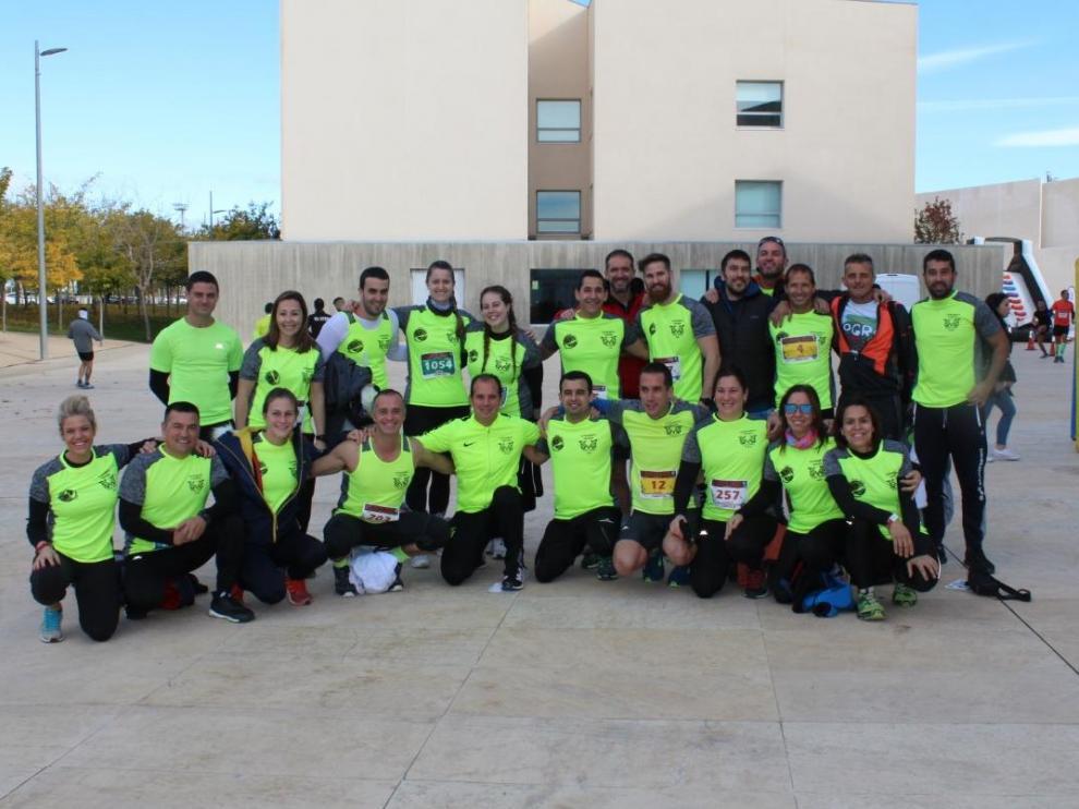 La AsociaciónTitan School Ejea en la III Gladiator Aragón, prueba celebrada en Villanueva de Gállego el pasado 9 de noviembre