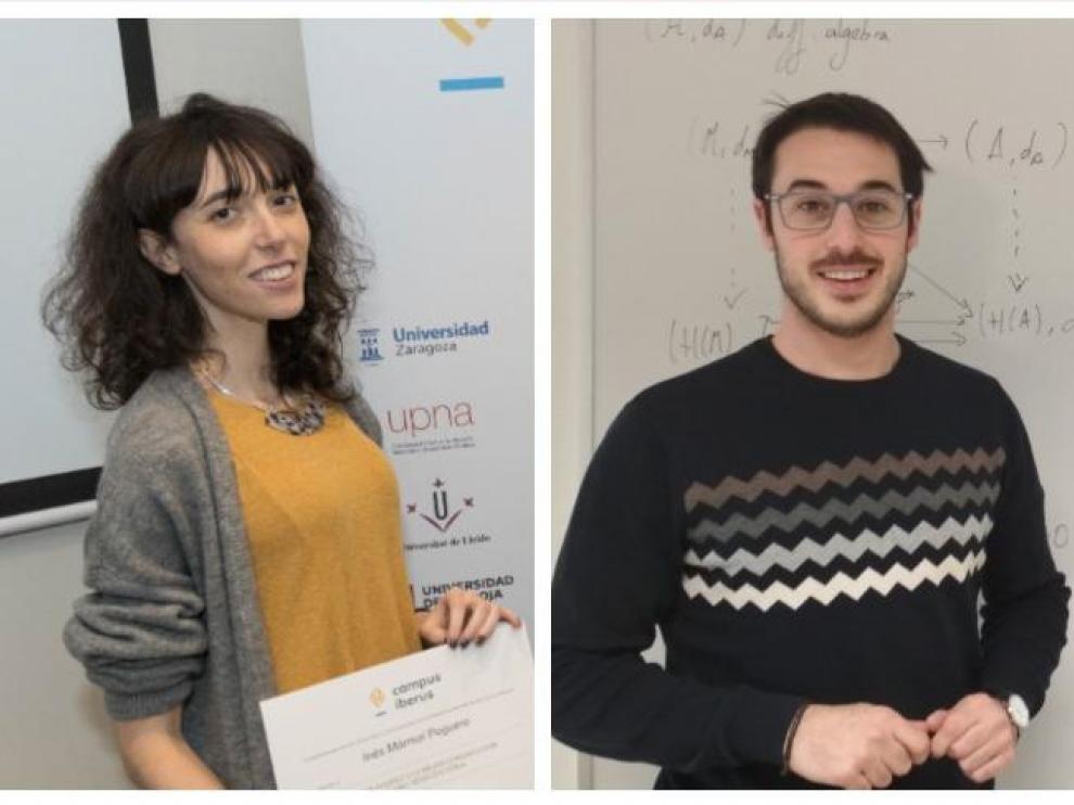 Inés Mármol y Víctor Manero, investigadores de la Universidad de Zaragoza y monologuistas científicos.