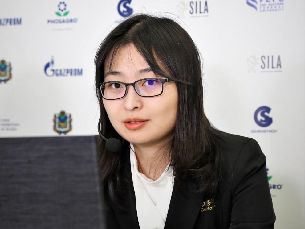 La ajedrecista Ju Wenjun