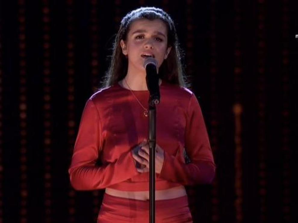 Amaia durante su actuación