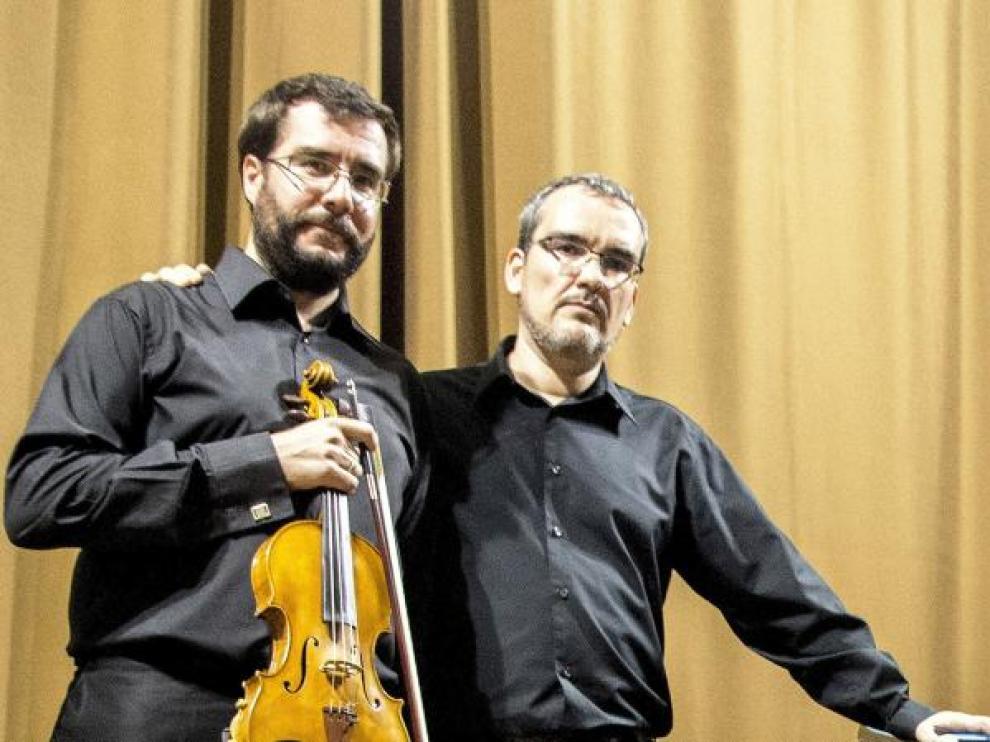 Daniel Francés y Sergio Bernal en una de sus actuaciones anteriores.