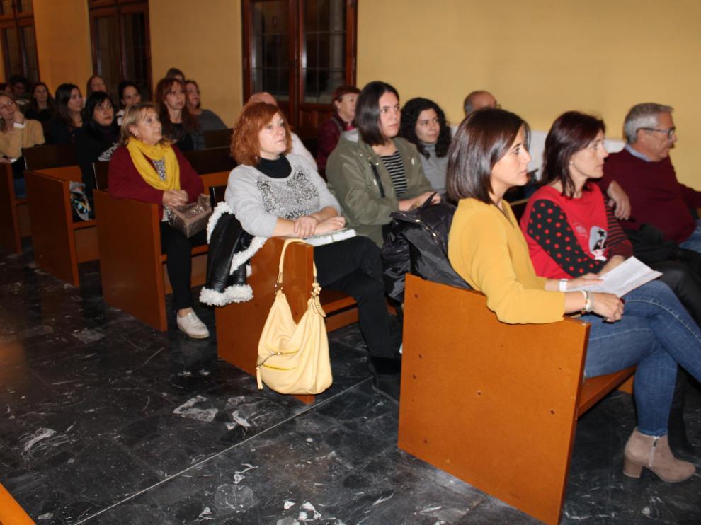 Miembros del AMPA en el pleno municipal del pasado mes de noviembre.
