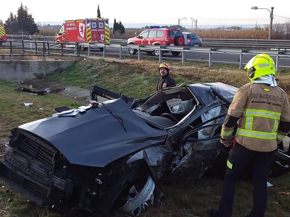 Estado en el que ha quedado el coche accidentado
