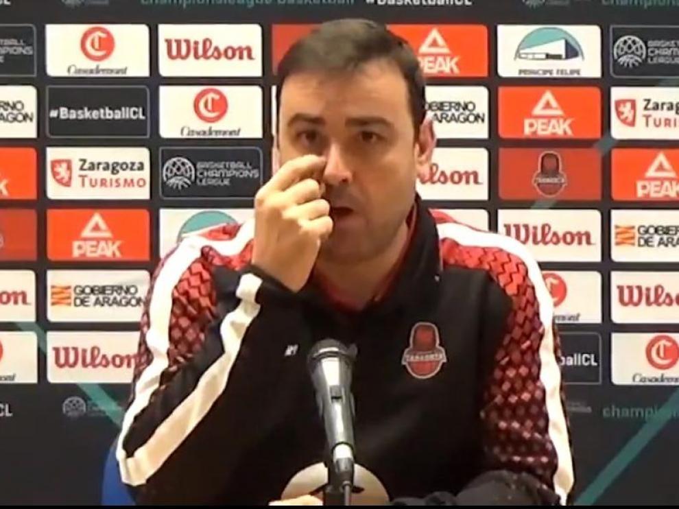 El entrenador ayudante de Porfirio Fisac en el Casademont Zaragoza, Sergio Lamúa