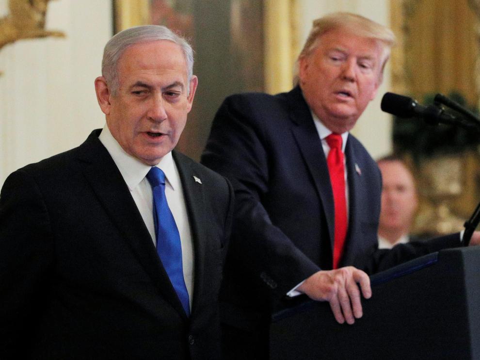 Trump y Netanyahu, durante la rueda de prensa conjunta en la Casa Blanca.