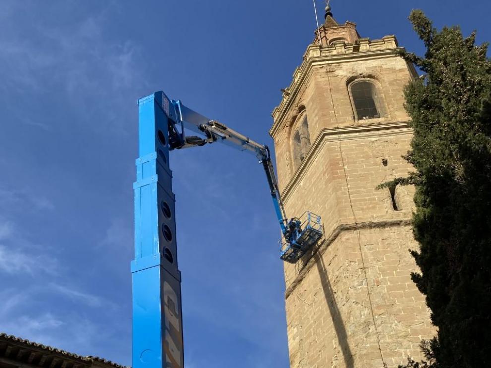 Desarrollo de los trabajos en el exterior de la torre de la Catedral