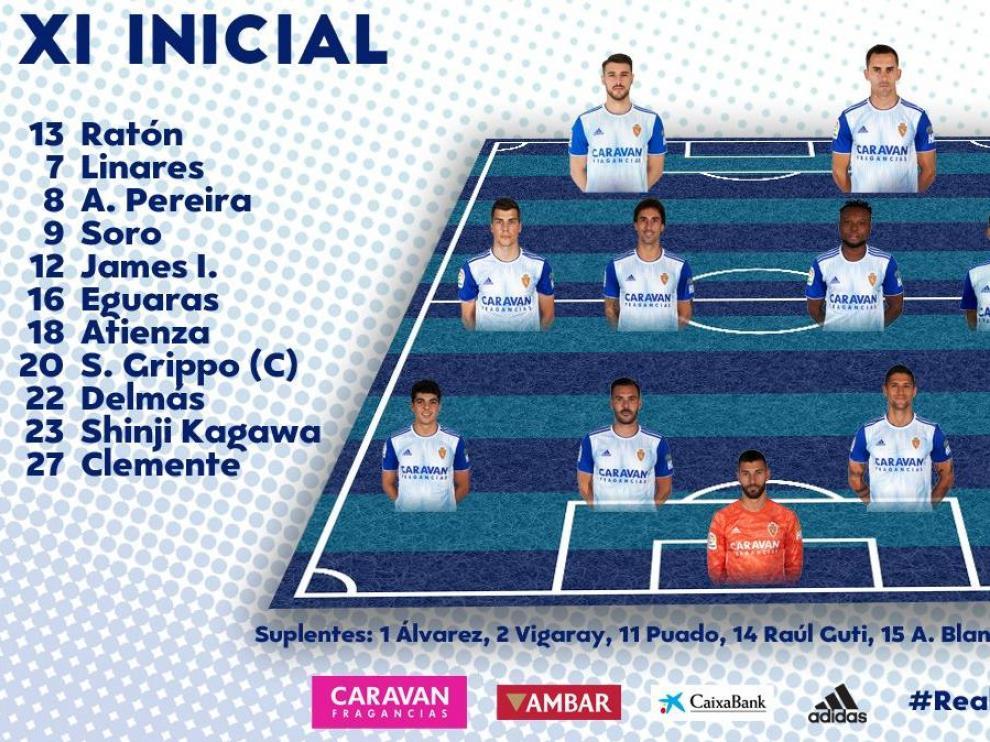 Alineaciones Del Real Zaragoza Real Madrid De La Copa Del Rey